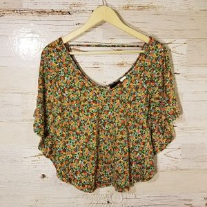 Material Girl winged floral top
